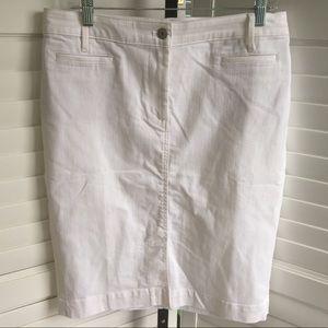 [Talbots] EUC White Denim Skirt Size 12